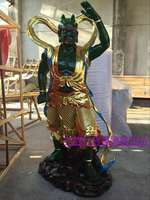 Resin glass steel wood statue Buddha statue clair wind ear 1 meter 3 high