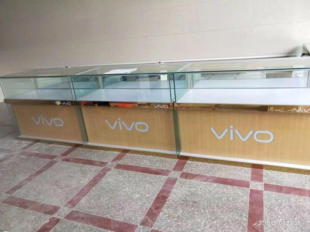 新款華為步步高手機柜臺小米陳列柜珠寶玻璃OPPO展示柜業務受理臺
