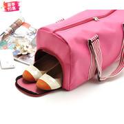 健身包旅行手提包 女 无拉杆折叠防水行李包短途旅游包袋单肩背包