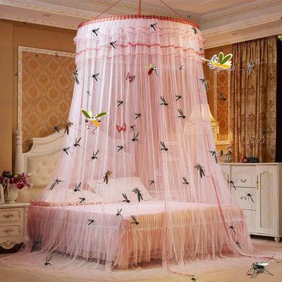 圆顶吊顶蚊帐1.5m1.8m床双人家用落地宫廷1.2米公主风免安装床幔
