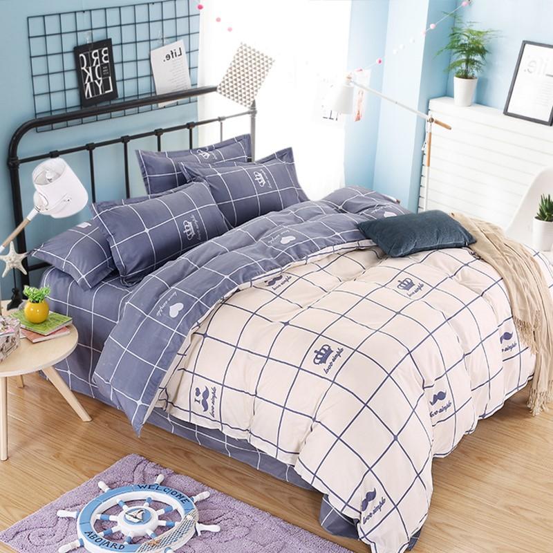棉贡缎提花四件套1.8m床磨毛被套2x2.3米床南通铭雅纺织品