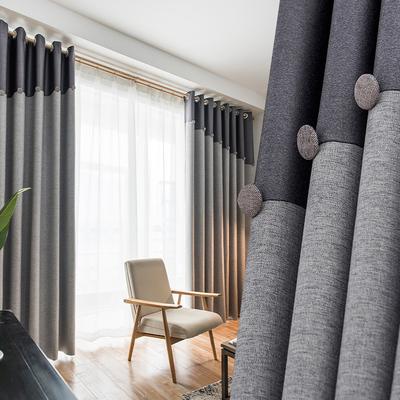 2018新款棉麻北欧灰色布窗帘成品简约现代遮光客厅卧室平面落地窗怎么样