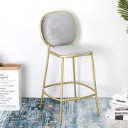 北欧吧台椅 现代简约酒吧椅高脚凳铁艺家用靠背高吧椅子创意凳子
