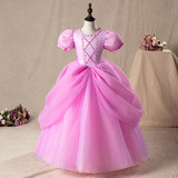 Princess elsa dress Cinderella Sofia alor ariel dress for children
