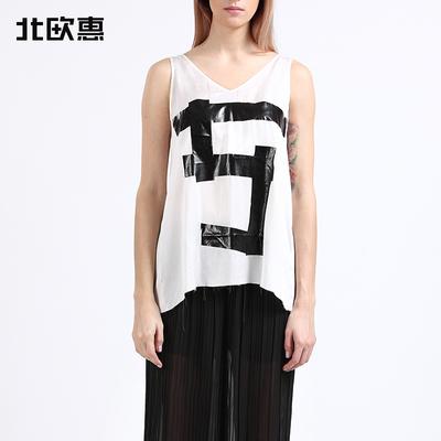 【北欧惠】5PW潮牌女装T恤背心 舒适桑蚕丝 M065