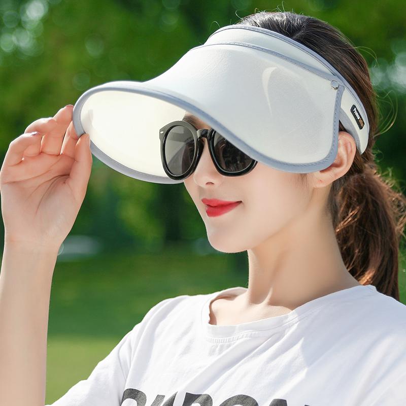 遮阳帽防晒女空顶百搭遮脸儿童夏季户外防紫外线骑车大沿太阳帽子