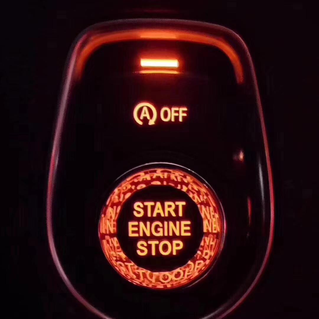 适用宝马汽车水晶按键一键启动水晶按键开关装饰按钮1234567全系