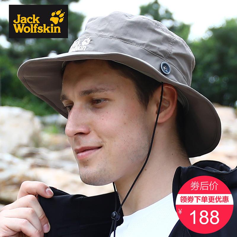 JACKWOLFSKIN狼爪帽子男女夏季户外休闲大檐渔夫帽钓鱼帽1902042
