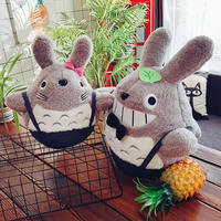 Creative cartoon strap couple Totoro doll new doll machine plush toy pillow birthday gift ornaments