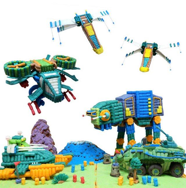 幼儿园手工材料魔法DIY玉米妙妙粒 儿童创意制作积木玩具益智礼物