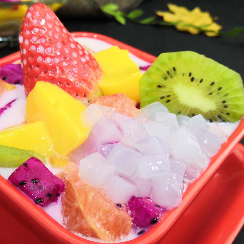 太湖美林椰果 刨冰粥冰沙奶茶专用原味椰果肉粒 水晶果 桶装2.5kg
