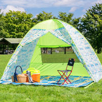 Japan 43DEGREES automatic beach outdoor tent speed open sun protection sun protection park picnic children tent