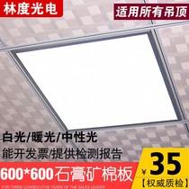 6030灯平板天花厨房灯嵌入式卫生间灯具铝扣板吸顶灯led集成吊顶