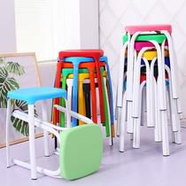时尚加厚塑料凳子大人餐桌凳高凳浴室防滑方凳儿童小板凳换鞋椅子