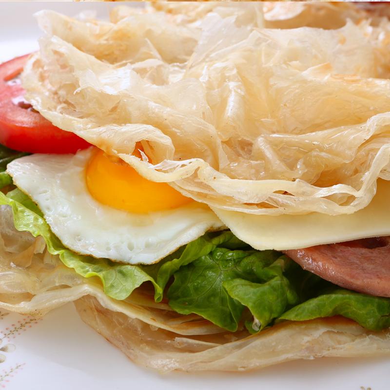麦乐享台湾风味手抓饼50片家庭装面饼皮原味家用早餐商用手抓饼皮