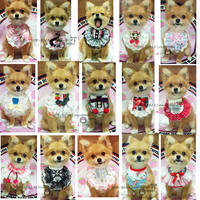 Buy four free one pet cute scarf Teddy than bear VIP lace princess saliva towel triangle towel cat bib