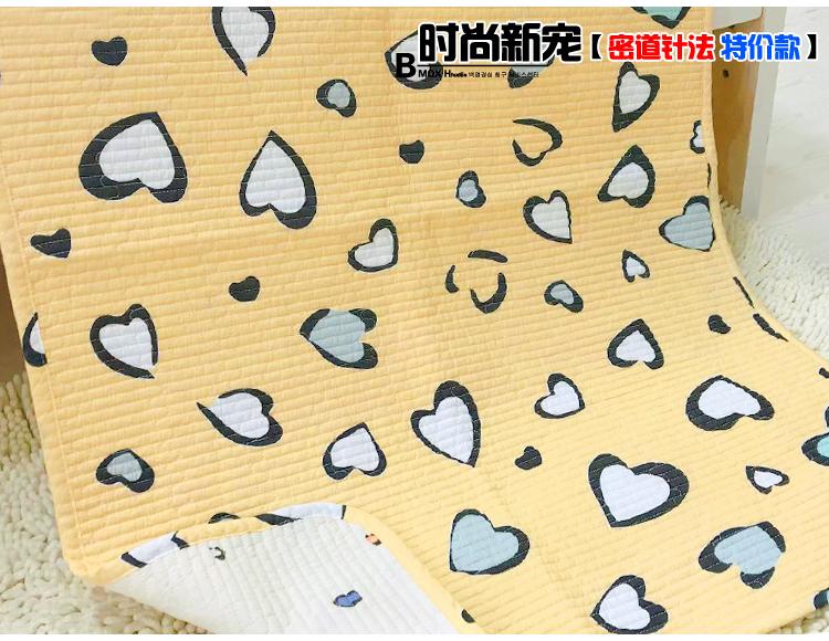 小垫子 0.7x1.0婴儿韩韩式纯棉绗缝婴儿儿童版床单垫子多用月经垫