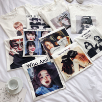 衣服2018新款夏装上衣韩版学生白色卡通趣味短袖t恤女印花ins半袖