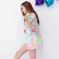 2018夏季新款韩版防晒衣女中长款超薄长袖沙滩迷彩服百搭外套衫潮