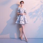法式小晚礼服裙子女平时可穿短款 气质简单大方名媛连衣裙 宴会洋装