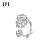 ipi个性时尚圆形可调节开口戒指女简约指环百搭首饰品圣诞礼物