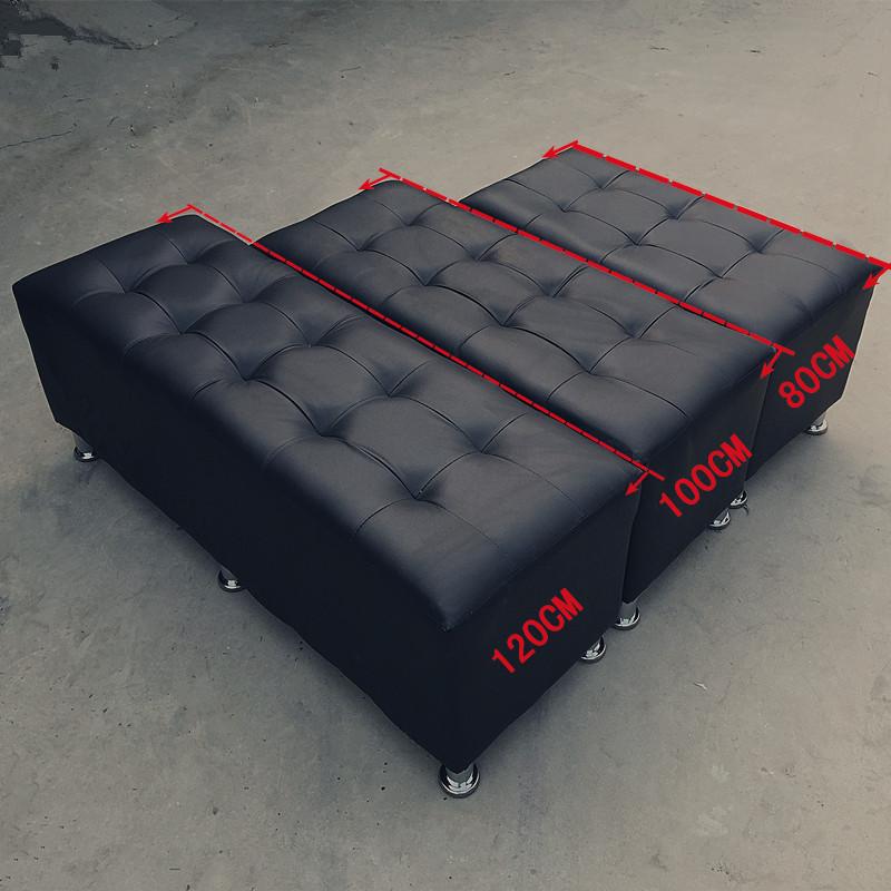 皮面时尚皮换鞋凳长方形储物凳服装店小沙发凳长条凳子
