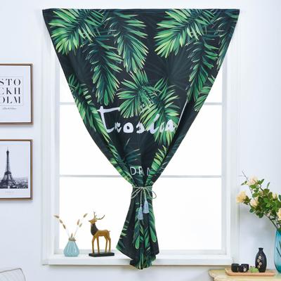 出租房窗帘遮光卧室免打孔窗帘成品简约现代简易魔术贴粘贴窗帘布