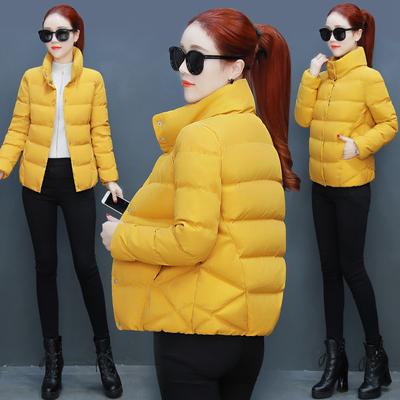 女式短款羽绒棉衣女装韩版立领学生加厚小棉袄保暖面包棉服外套女