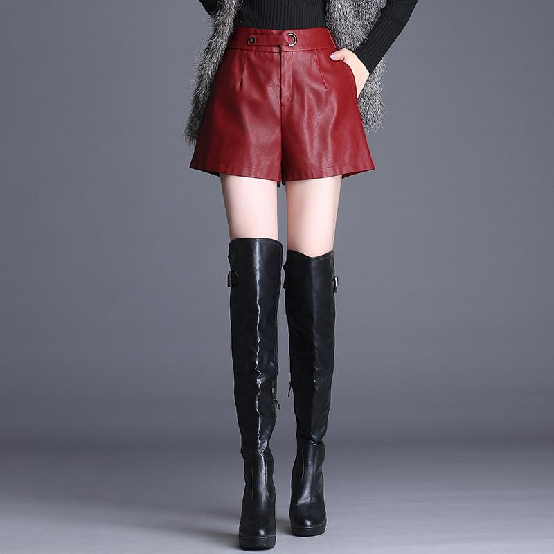 紅色短褲秋冬