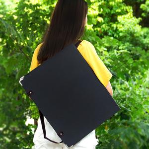 肩背式画夹4k素描写生画板画夹儿童初学者户外便携式收纳防水画袋双肩背8k速写板可装纸折叠多功能带兜美术生