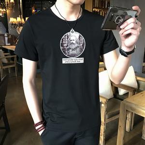 青少年短袖t恤男韓版潮流衣服2018春夏季學生小衫男士體恤薄款