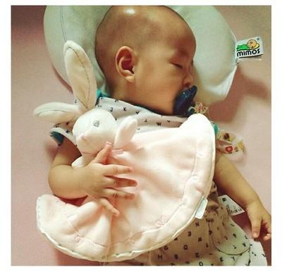 出口法国品牌婴儿安抚巾宝宝新生儿可入口玩偶毛绒安抚玩具 手偶