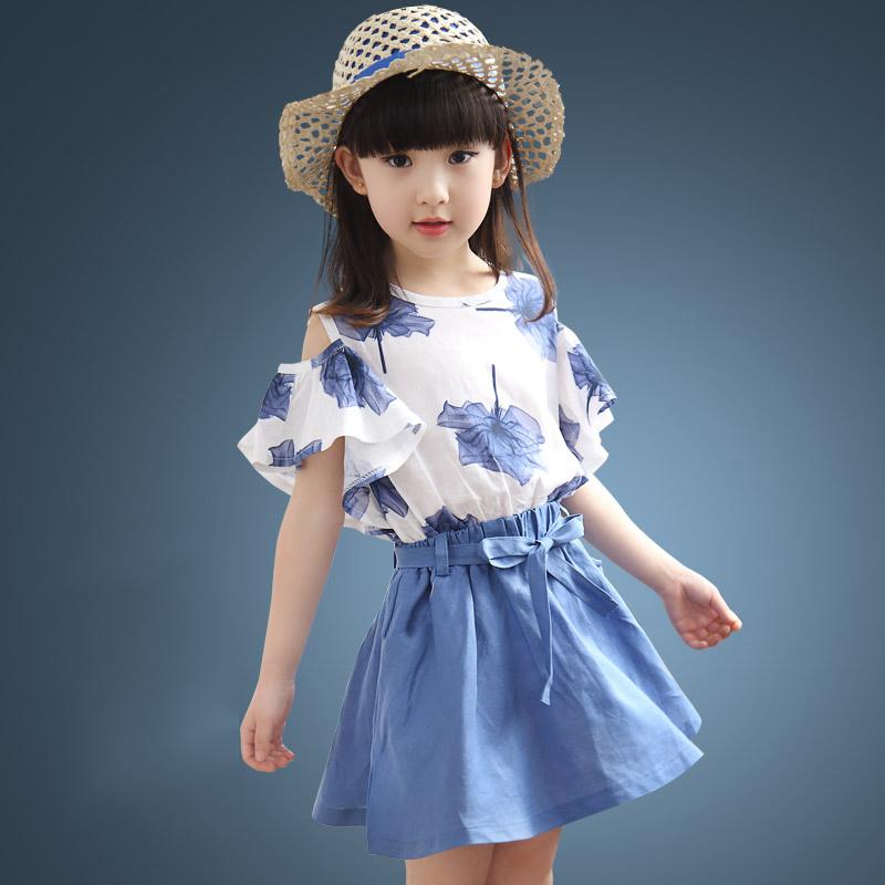 女童短袖連衣長裙中大童