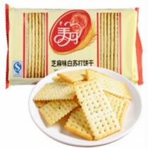梳打咸味孕妇糖尿人零食办公室零500g黑芝麻苏打饼干无糖精食品