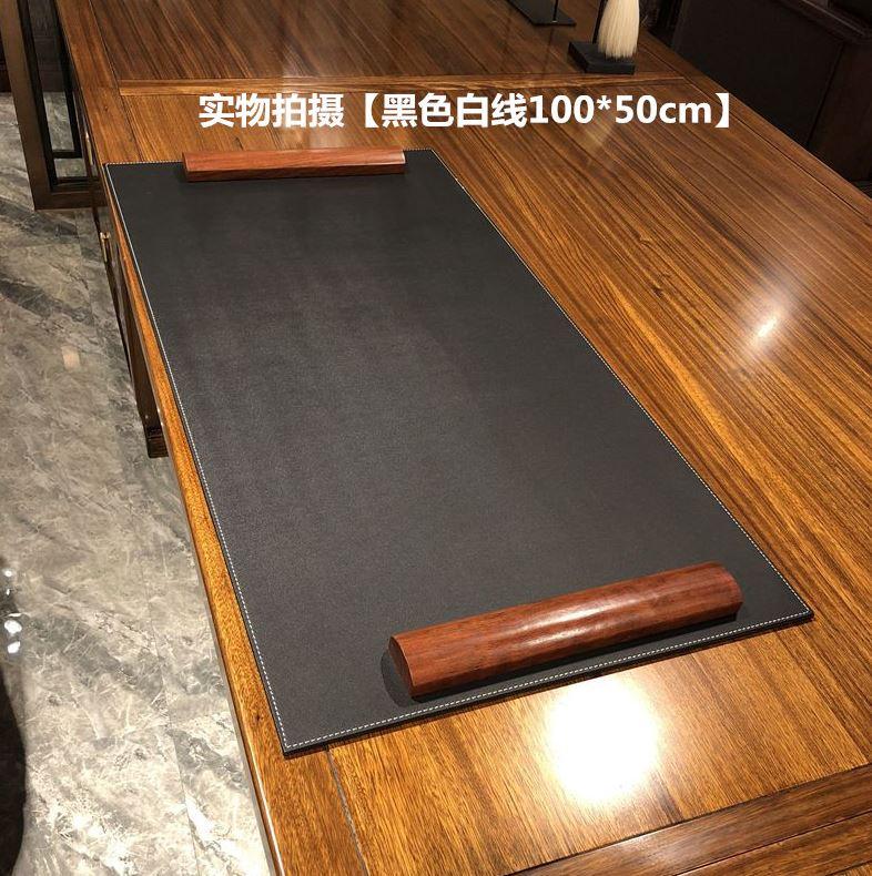 办公桌书桌垫防滑电脑游戏加厚桌垫防水垫板大班台皮革硬面鼠标垫