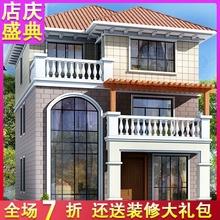 农村三层欧式小别墅设计图纸全套乡村自建房新农村房屋建筑效果图图片
