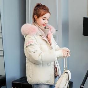2018新款冬季羽绒棉服女短款宽松面包服学生韩版bf原宿风冬天棉袄