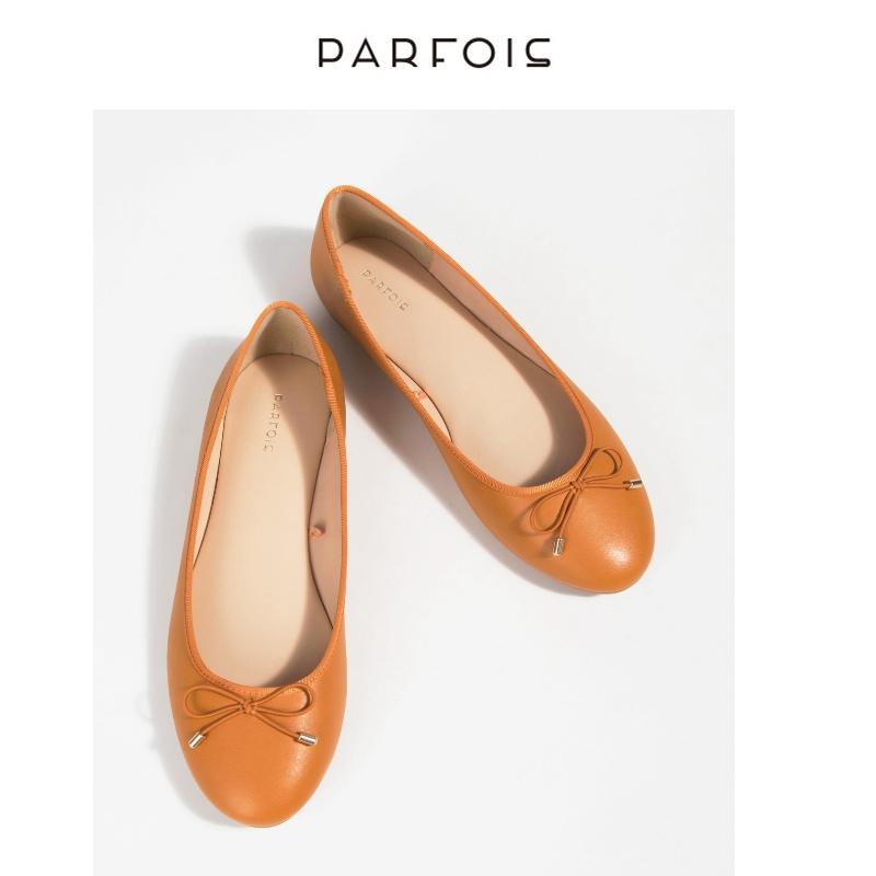 parfois2018新款 女生时尚百搭通勤单鞋平跟浅口鞋155394