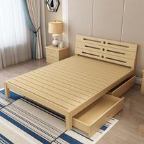 包邮实木床1.5双人床1.8米松木现代儿童床宜家单人床榻榻米1.2米