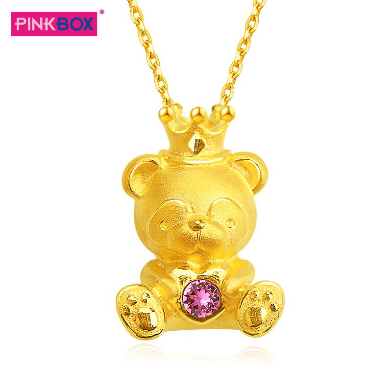 黃金吊墜小熊