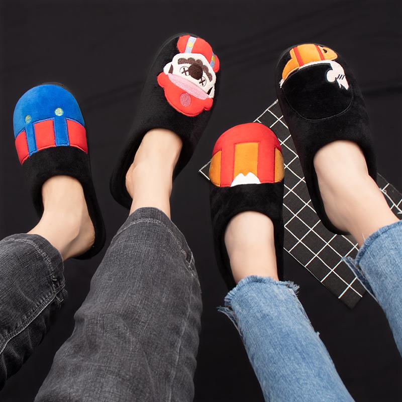 新款女士男冬室内居家2019家用棉鞋