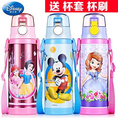 迪士尼保温杯儿童水杯便携304不锈钢密封小学生男女直饮水壶刻字