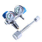 Medical Oxygen Meter Pressure Gauge Double Meter Household Flow Table 1.2/2/4 Boost Decompression Valve Oxygen Bridge