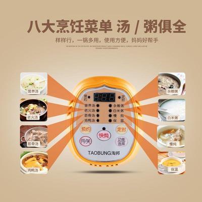 陶瓷电炖锅煲汤白瓷煮bb煲粥预约炖汤锅全自动迷你学生宿舍电炖盅