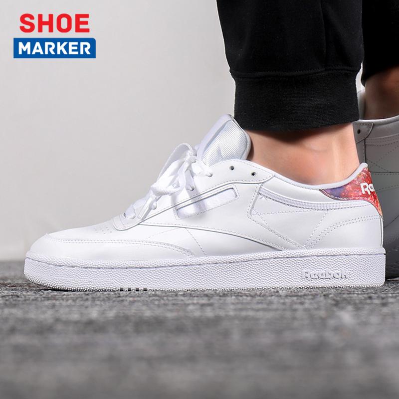 锐步男鞋2019春季运动鞋小白鞋复古时尚耐磨低帮休闲鞋板鞋DV5303