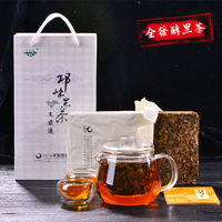 Authentic old-fashioned black tea premium 茯 brick tea 茯 tea Tibetan tea happy base camp with the same paragraph Sichuan side tea
