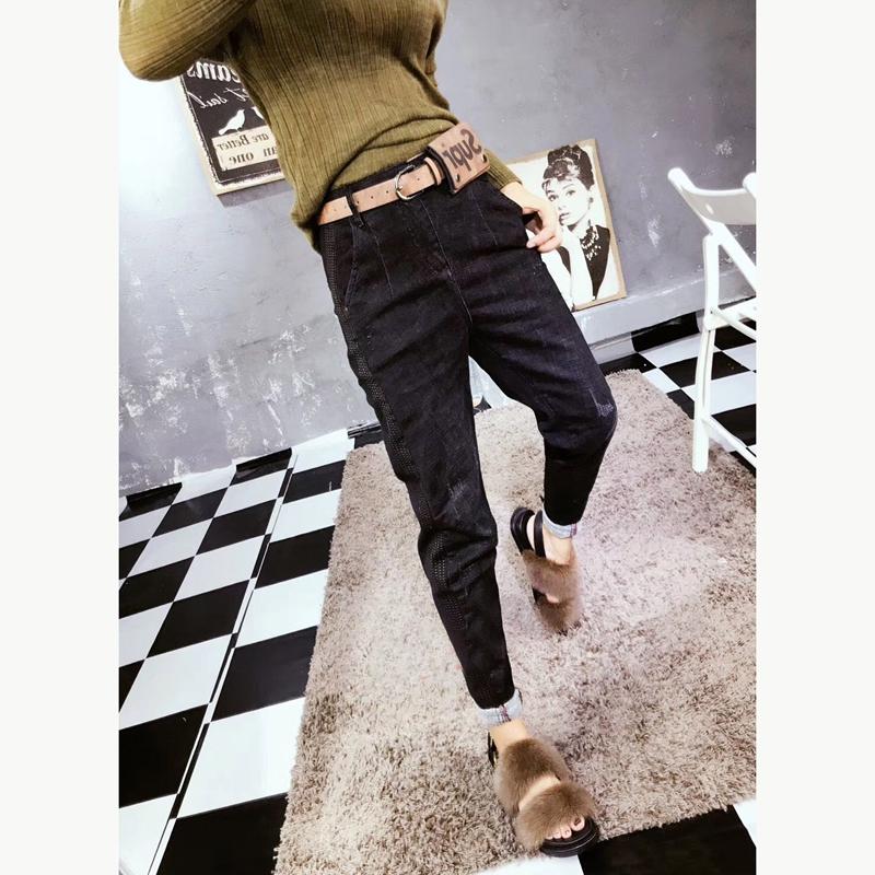 低腰加绒女裤