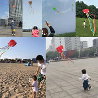 Weifang cool Xiang soft octopus kite new soft Octopus wind competition large breeze easy to fly beginner children