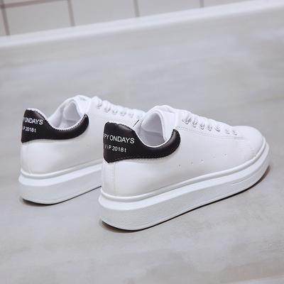 小白鞋女2018春季新款韩版百搭平底板鞋休闲夏季学生女鞋透气白鞋