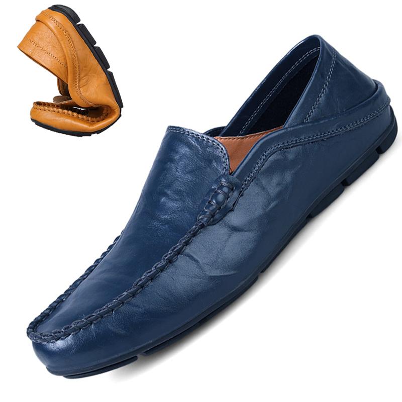 软皮套脚懒人鞋